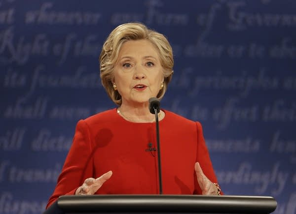 Hillary Clinton speaks at first debate