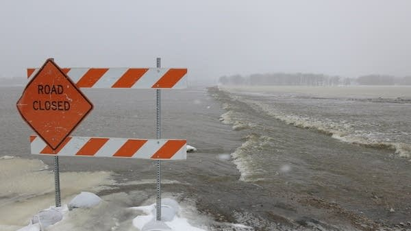 Every road to Oslo, Minn., was closed by floodwaters
