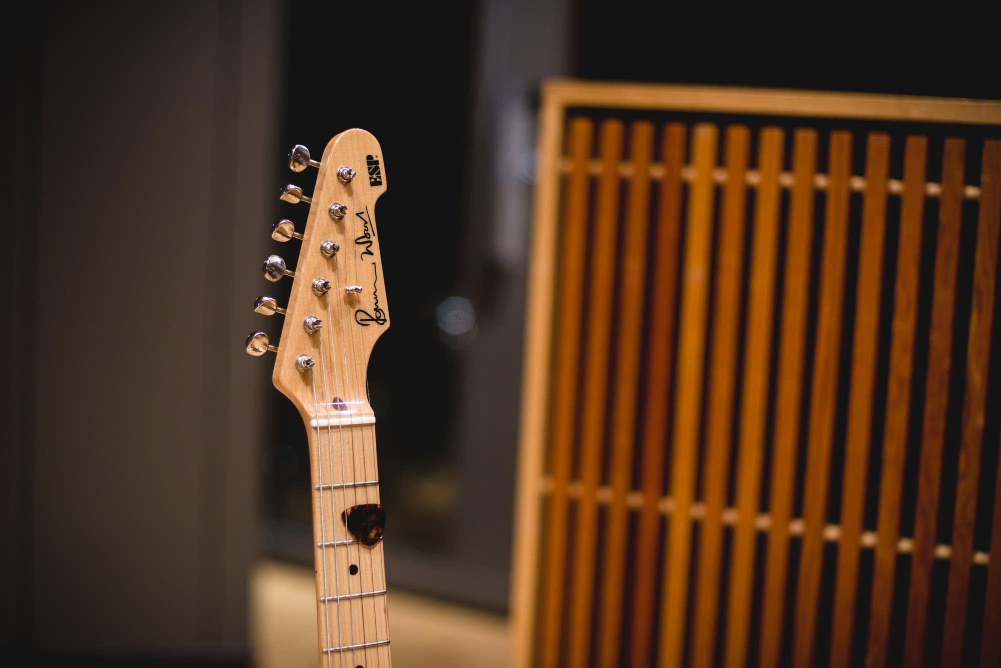 Esme Patterson's ESP Ronnie Wood guitar