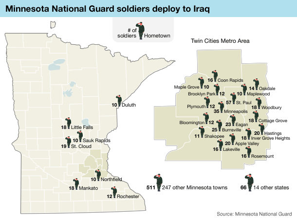 Graphic: Soldiers' hometowns
