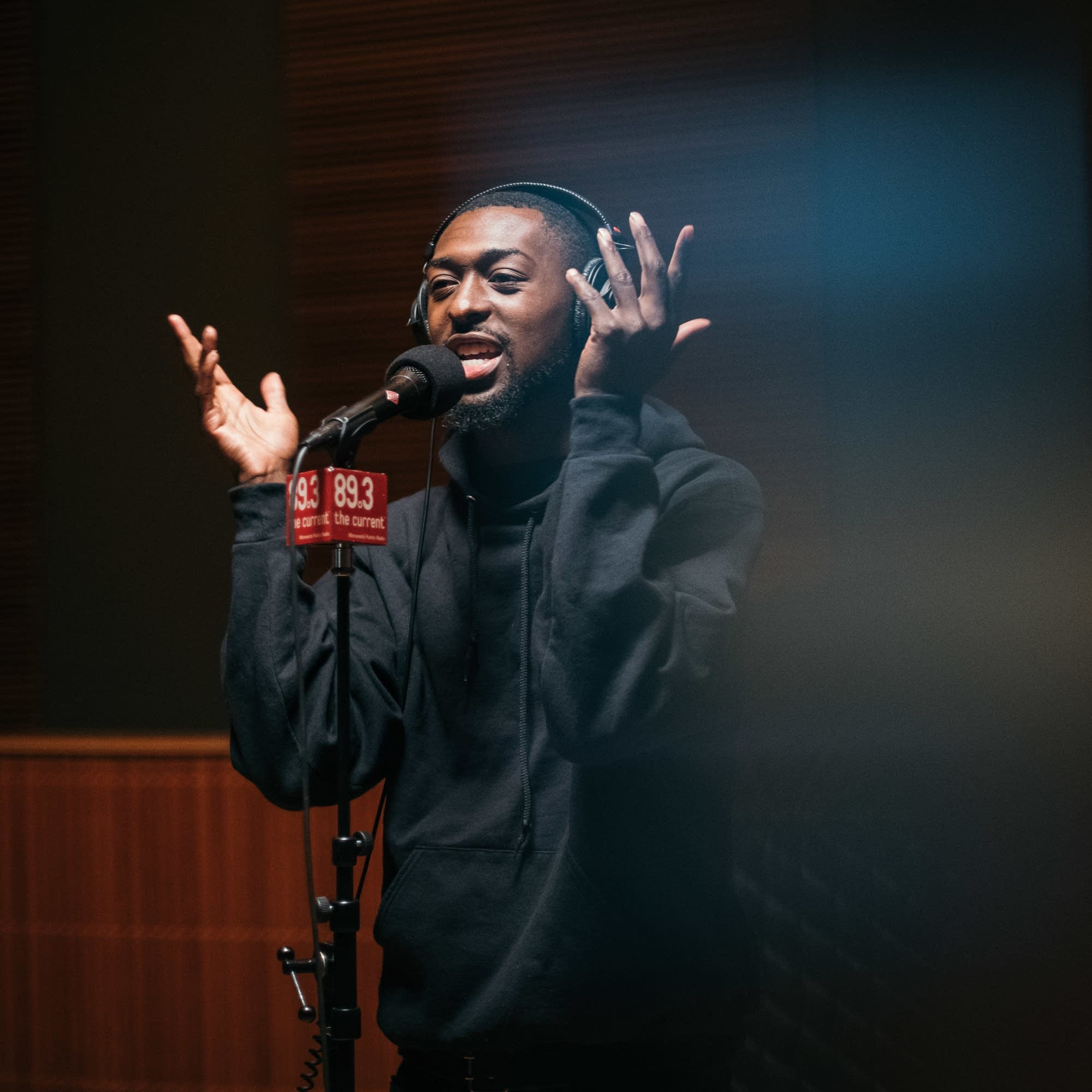 Dwynell Roland performs in The Current's studio