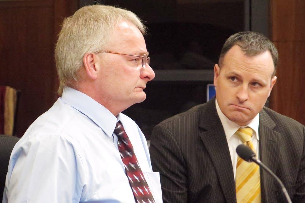 Roger Lee Olsen, left, and State Rep. John Lesch