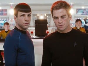 Zachary Quinto and Chris Pine in 'Star Trek'