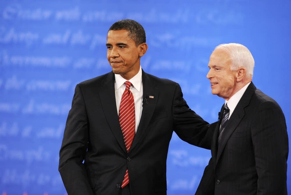 Obama and McCain after the debate