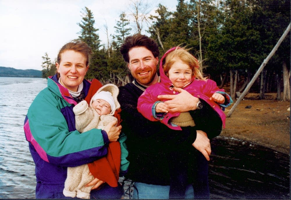 The Lovrich family with Mac, months before he died