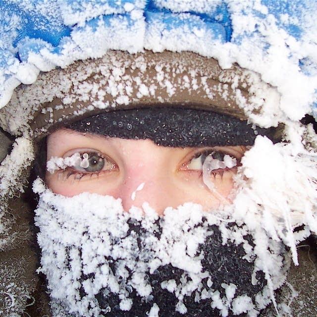 Blair Braverman in the ice