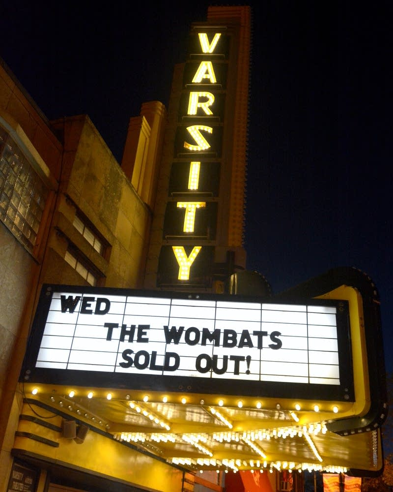 Varsity Theater marquee in 2015.