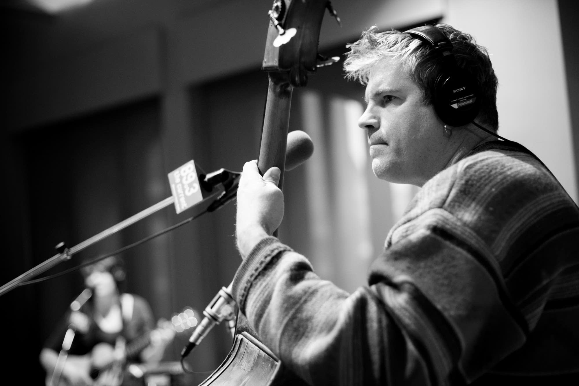 John Munson in The Current's studio