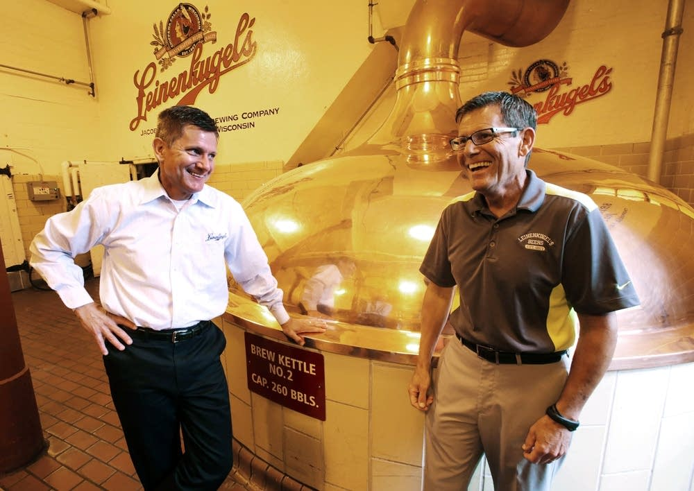 Dick Leinenkugel, left, and Jake Leinenkugel