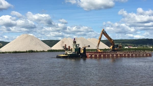 The Minnesota DNR is taking sediment its dredging from Kingsbury Bay