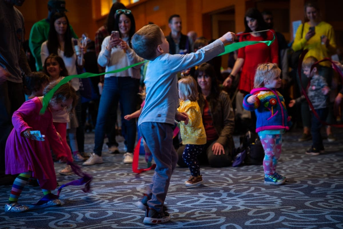 Dancing in the kids' disco at Rock the Cradle 2020.