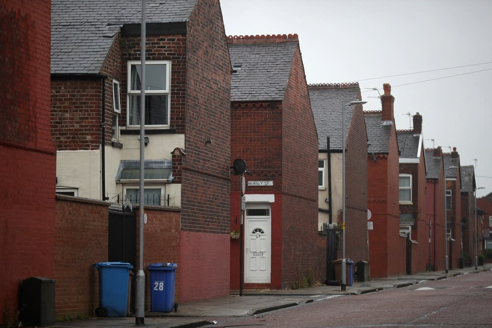 Terraced homes in Salford, Greater Manchester
