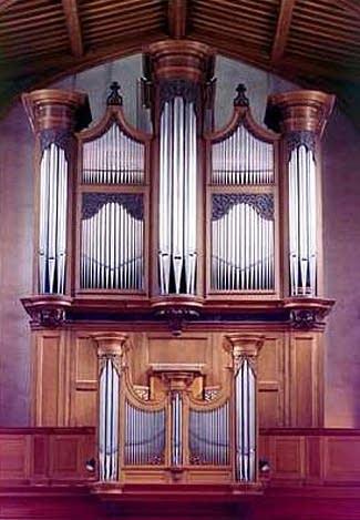 1970, 1991 Mander organ at Saint Giles, Cripplegate, London, England, UK
