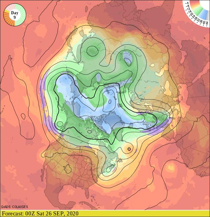 Upper air forecast map for 7 pm September 25