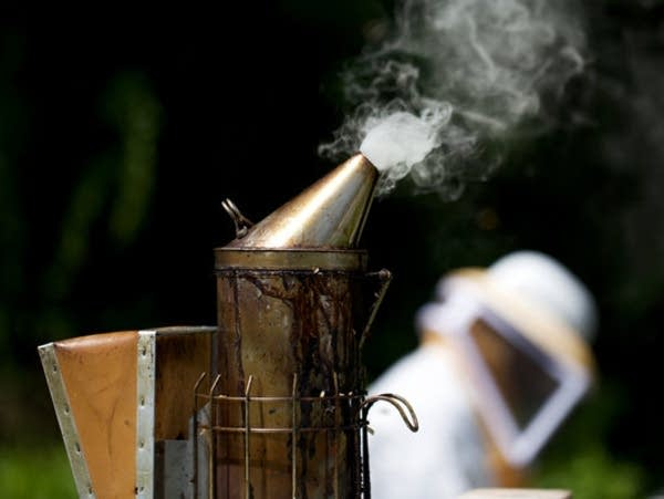 Beekeepers use this device, called a smoker, to calm honey bees.