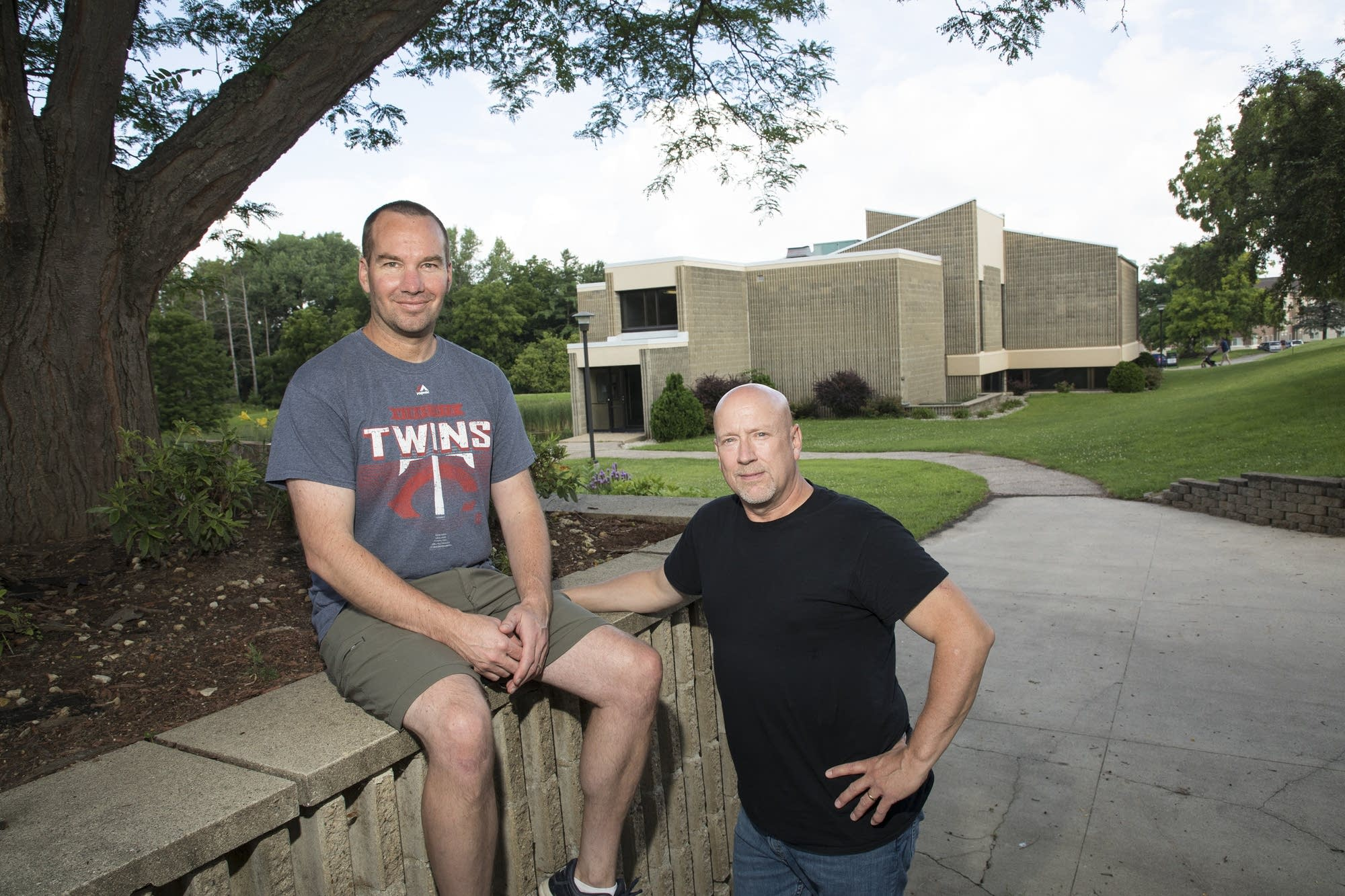 Pastors Jeff Urban, left, and Aaron Wager, at Bear Creek Christian Church