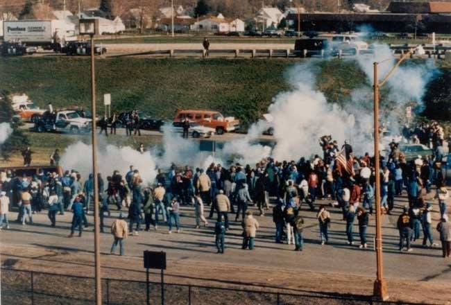 Conflict during the Hormel strike in Austin