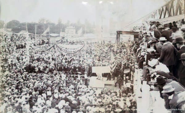 Cornerstone laid at capitol, 1898