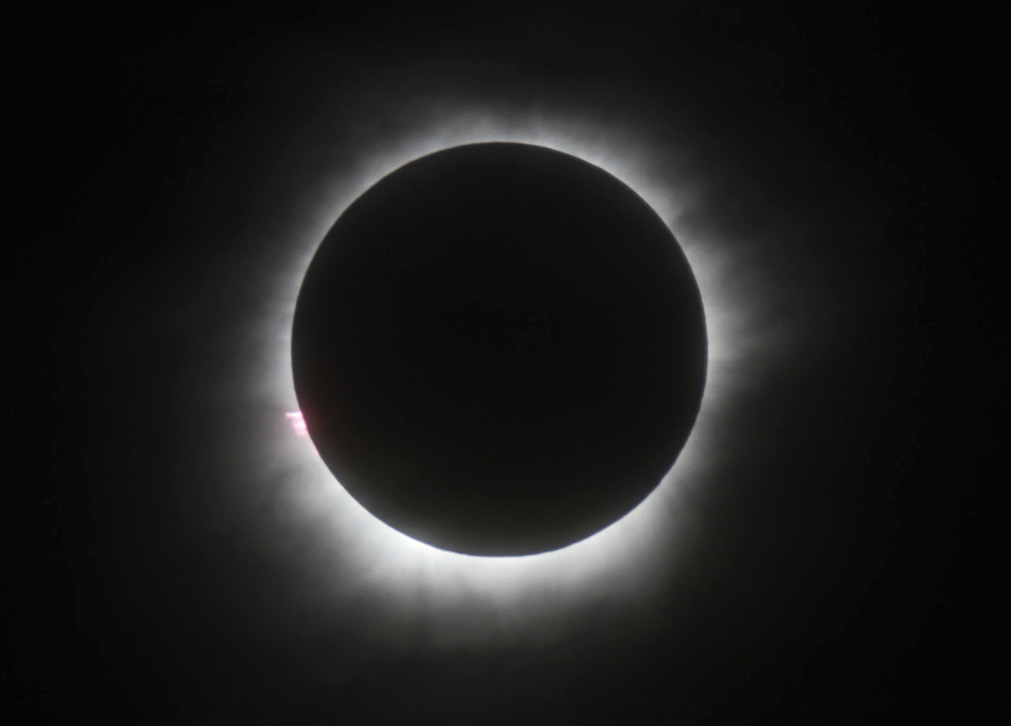 A total solar eclipse in Belitung, Indonesia in 2016