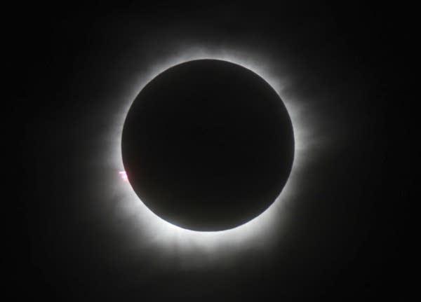 A total solar eclipse in Belitung, Indonesia in 2016