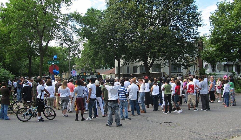 Peace vigil in north Minneapolis