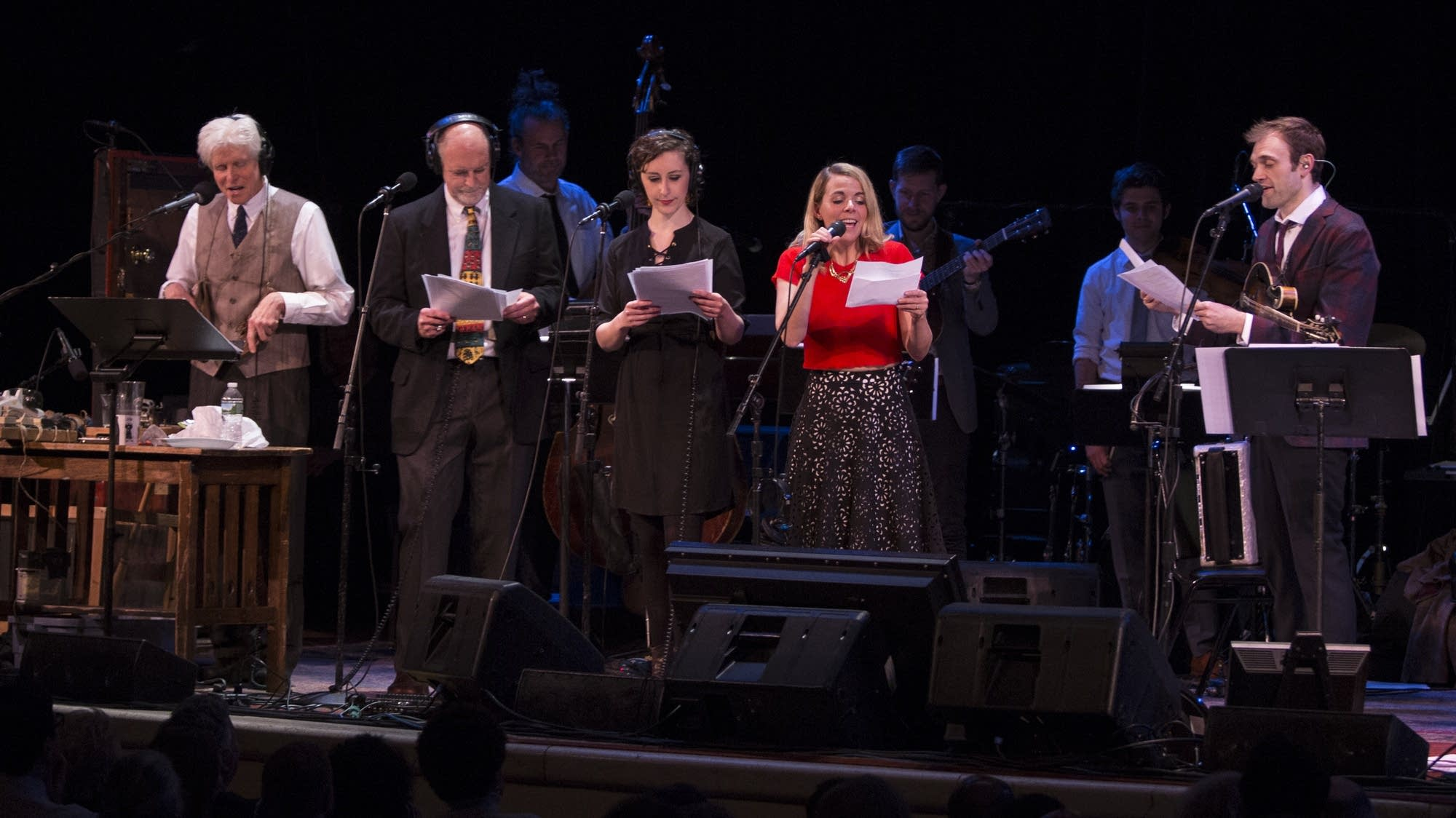 Fred Newman, Tim Russell, Serena Brook, Aoife O'Donovan, and Chris Thile