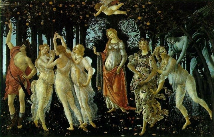 The Primavera by Botticelli