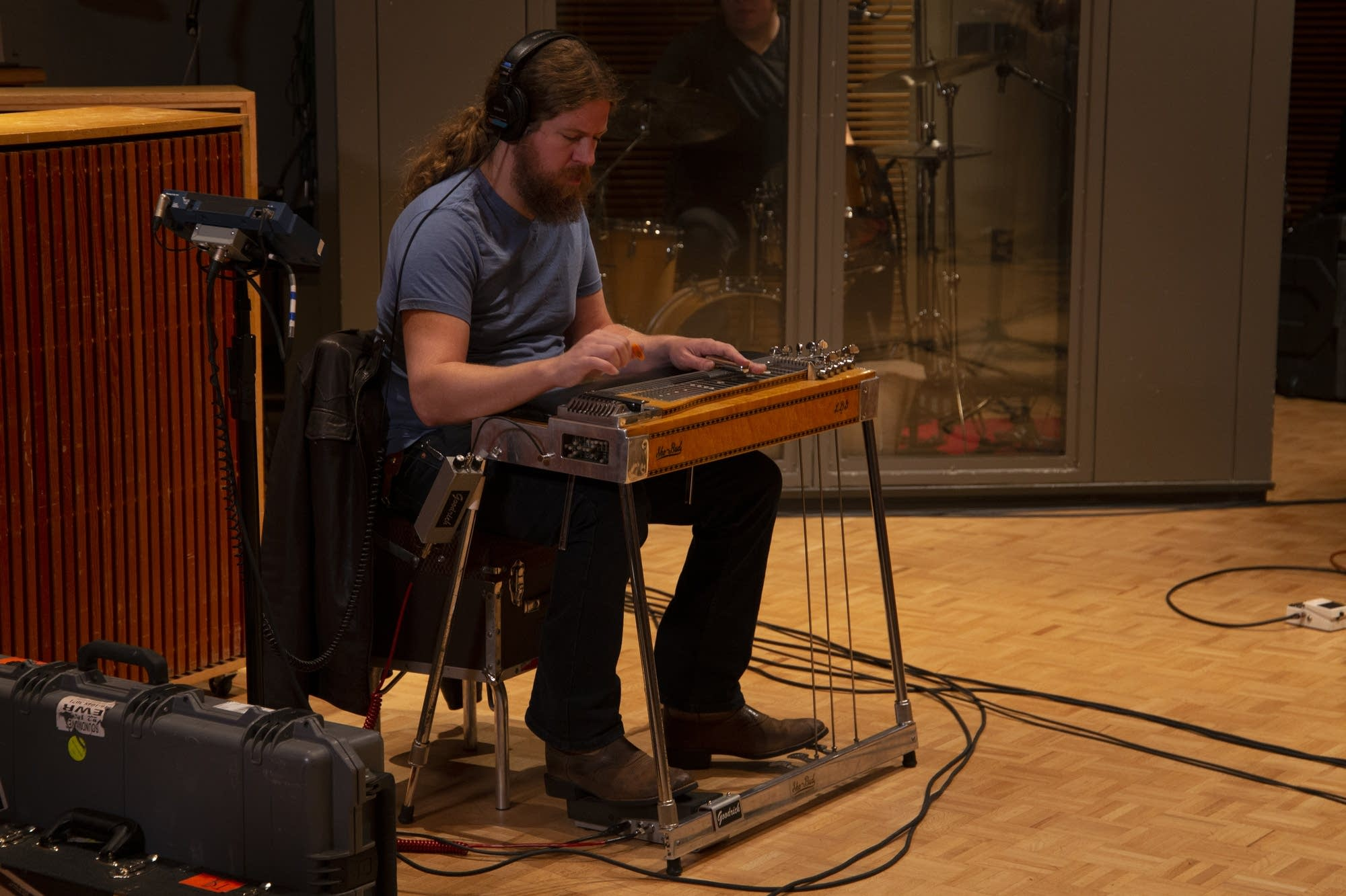 Tyler Childers performs in The Current studio