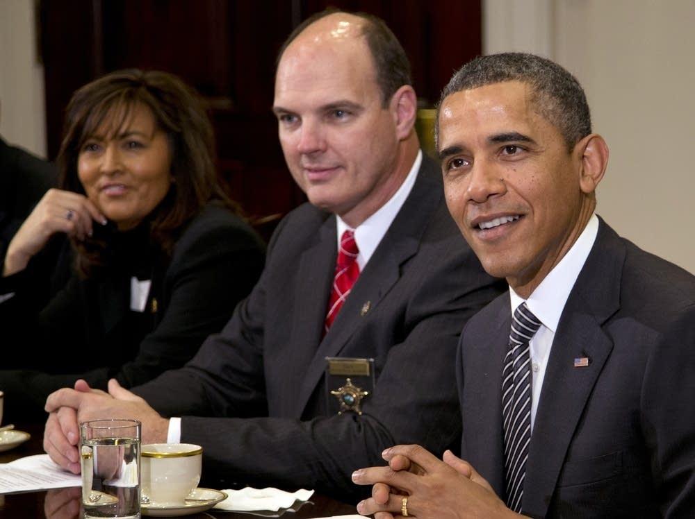 Barack Obama, Richard W. Stanek, Janee Harteau