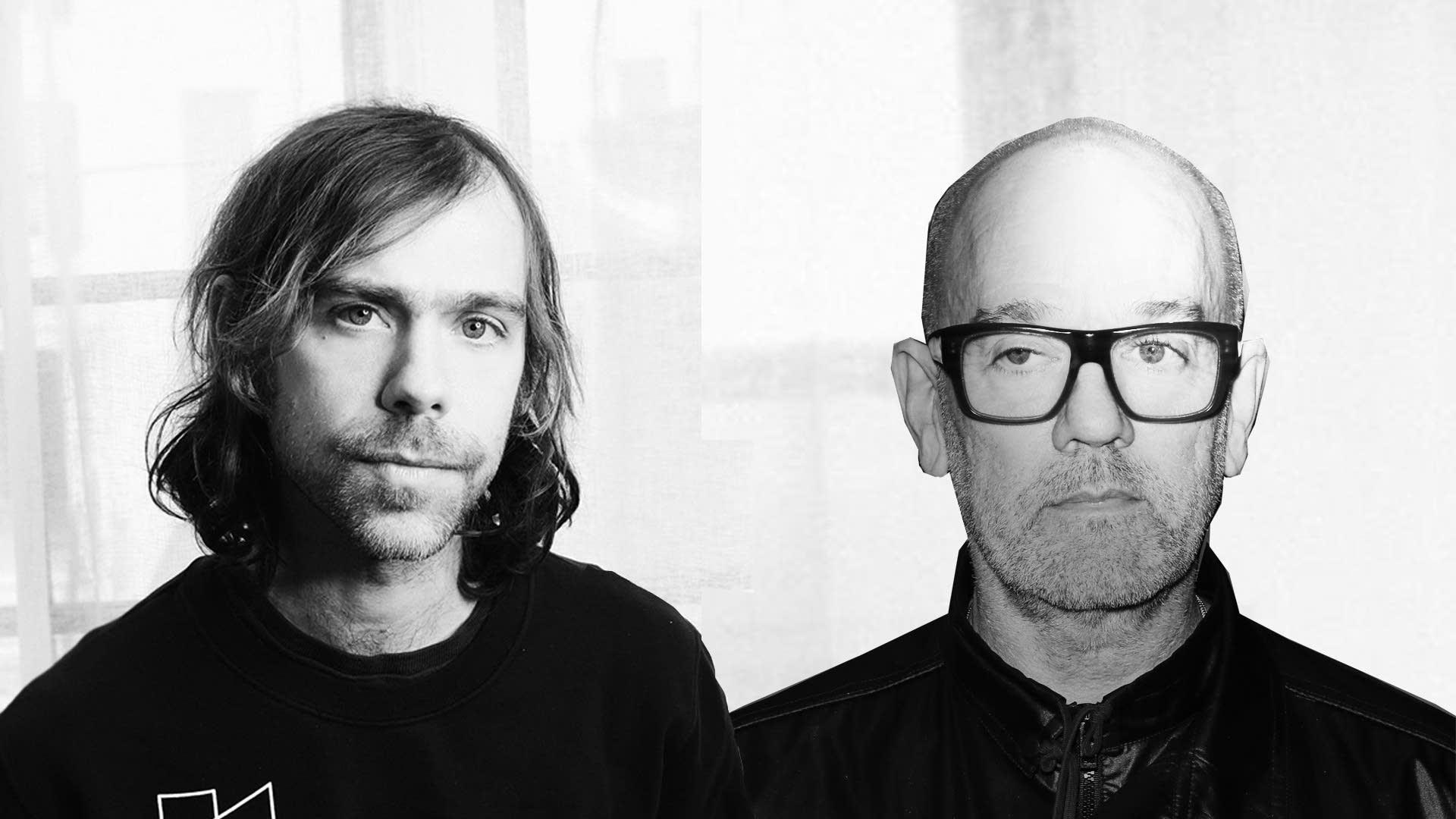 Aaron Dessner and Michael Stipe