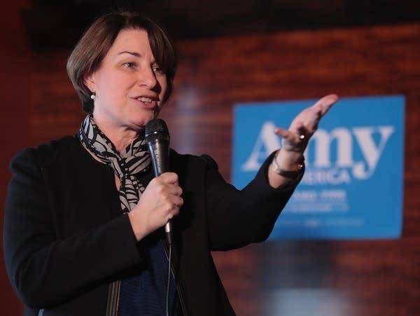 Amy Klobuchar campaigns in Iowa