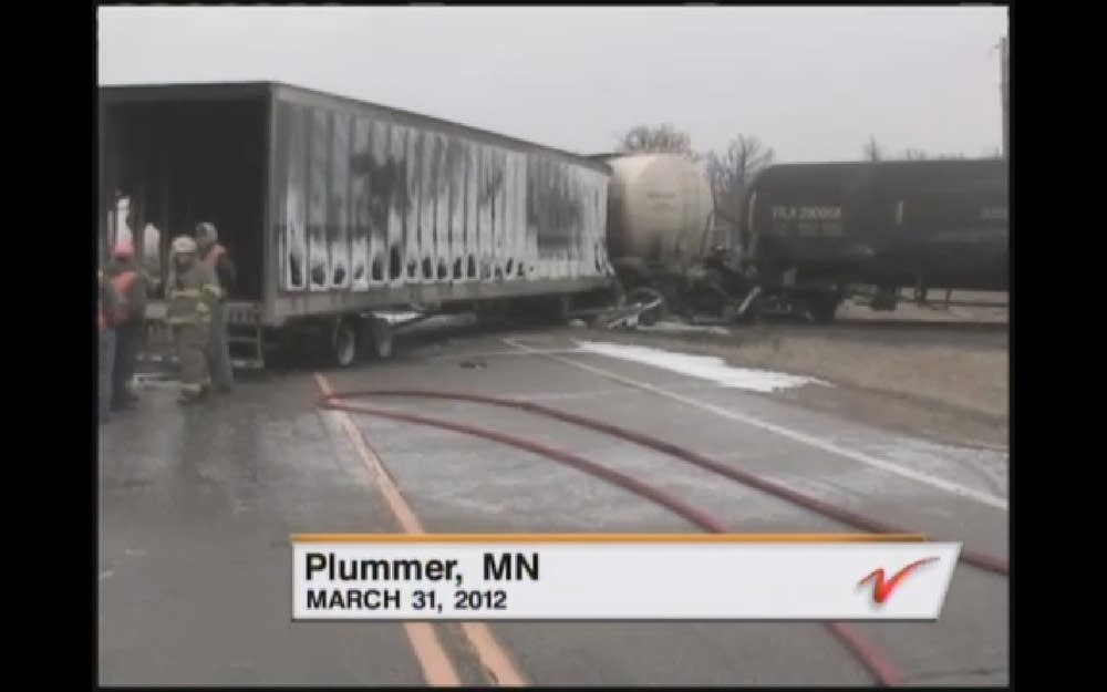 Plummer, Minn. train crash and spill