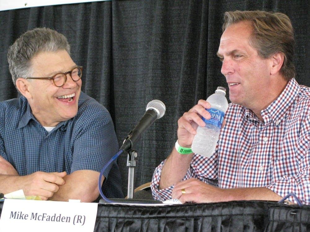 Franken and McFadden met at Farmfest in August