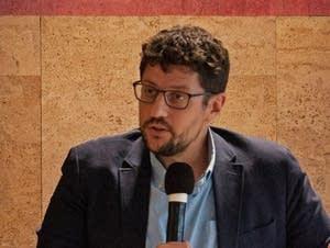 MPR News host Tom Weber facilitates a conversation about rural identity.