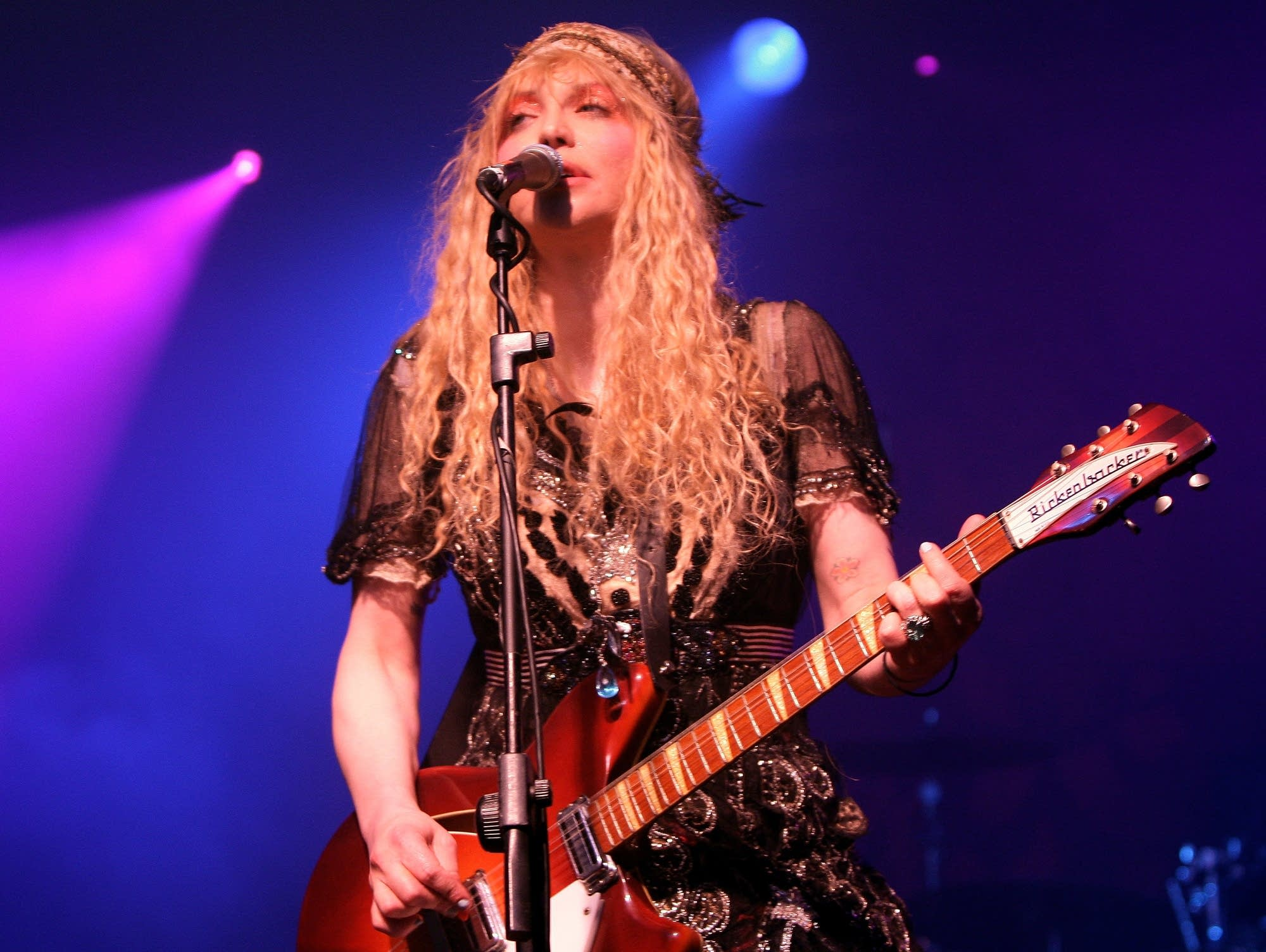 Courtney Love of Hole performs in Milan