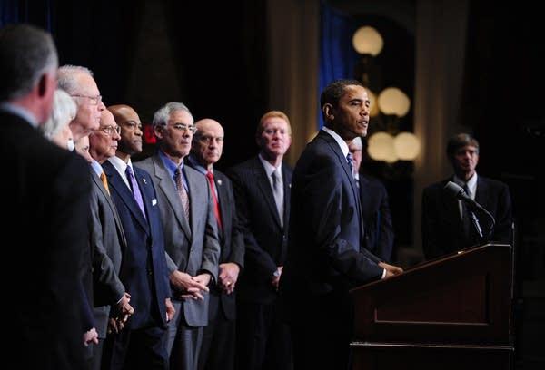 Obama holds a press conference in Richmond, Va.