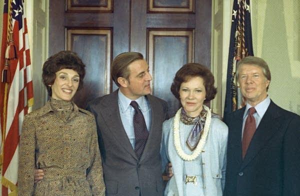 Jimmy Carter, Rosalynn Carter, Walter Mondale, Joa