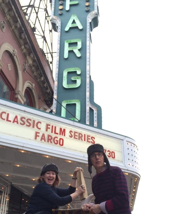 Diane Richard and Todd Melby at 'Fargo' screening