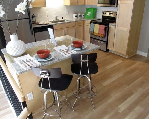 Kitchen in one of the Penfield apartments