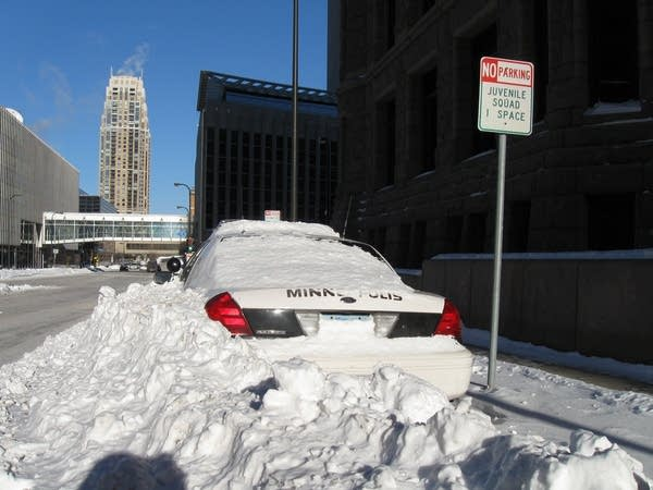 Buried squad car