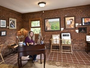 Artist Jean Matheny, of Lake City, in her studio.