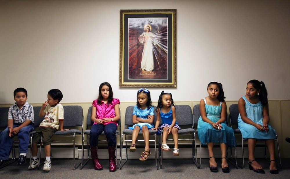 Children gather