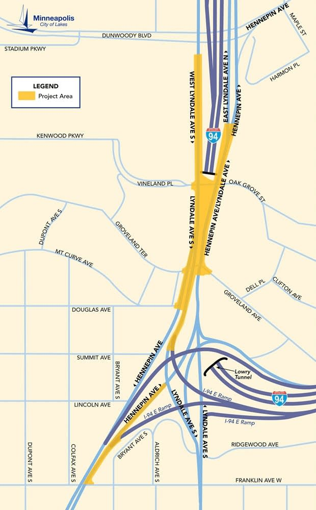 The Lyndale-Hennepin interchange