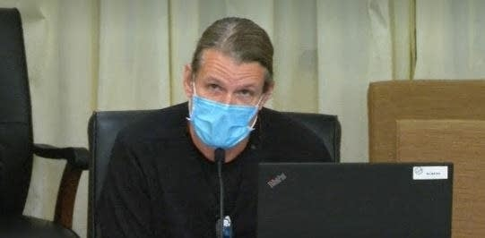 Brian Splatt at legislative hearing