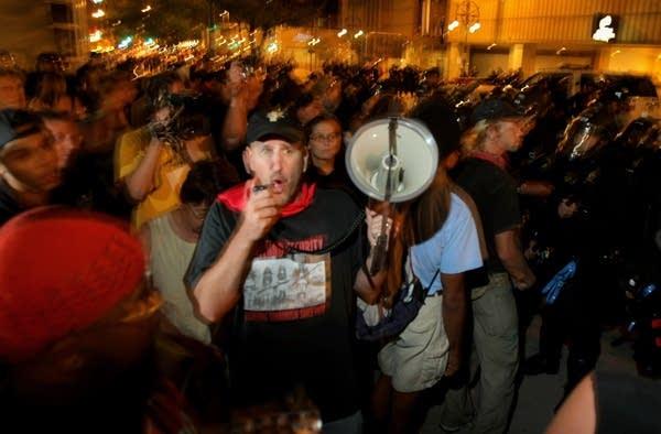 Activists Protest At DNC