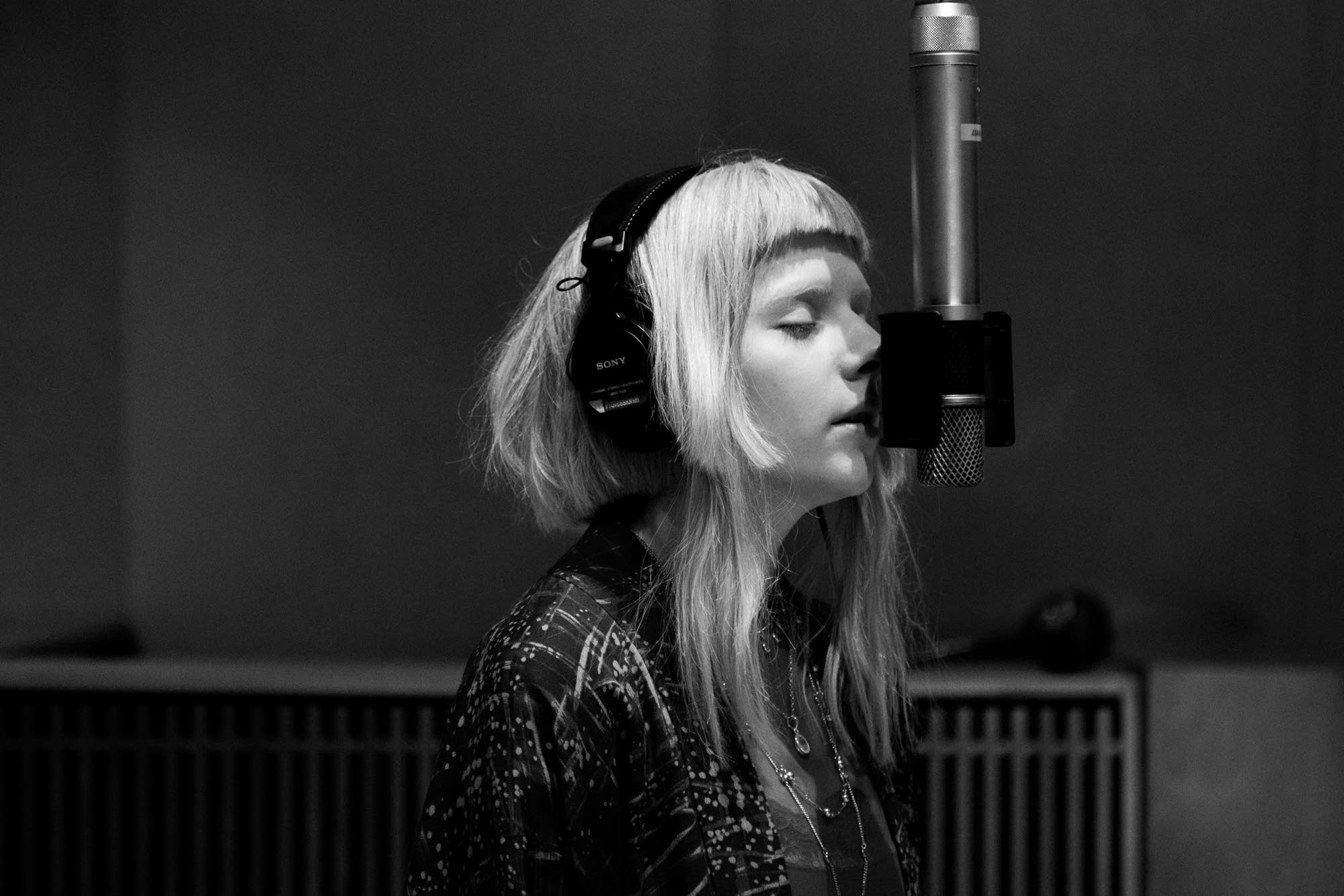 Aurora performs in The Current studio