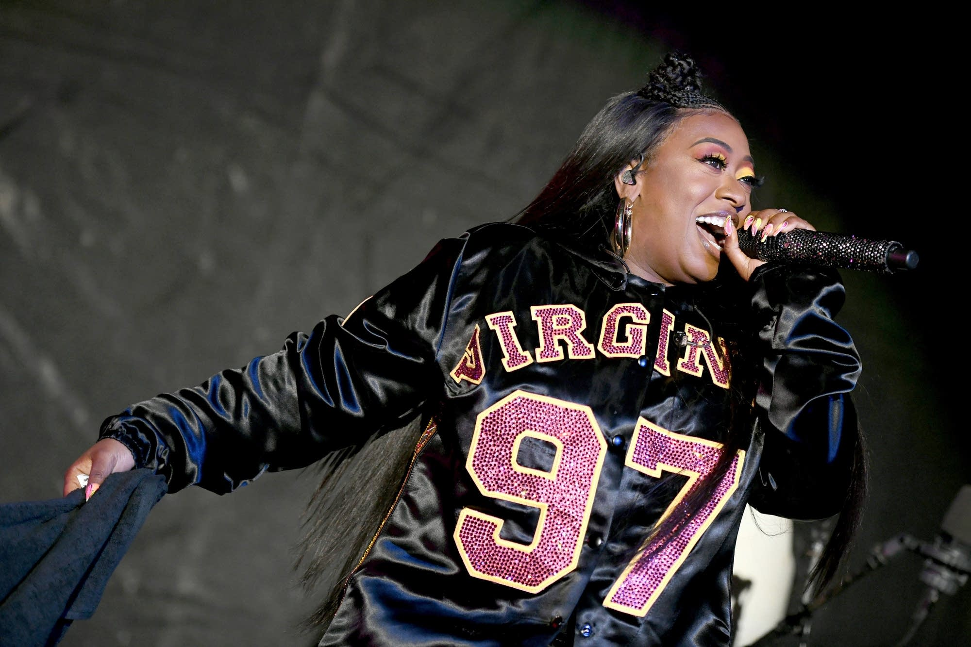 Missy Elliott performing in Virginia