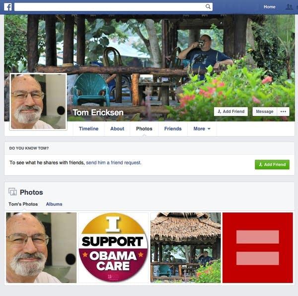 Tom Ericksen's Facebook page