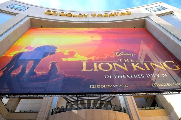 "A sign at the world premiere of ""The Lion King."""