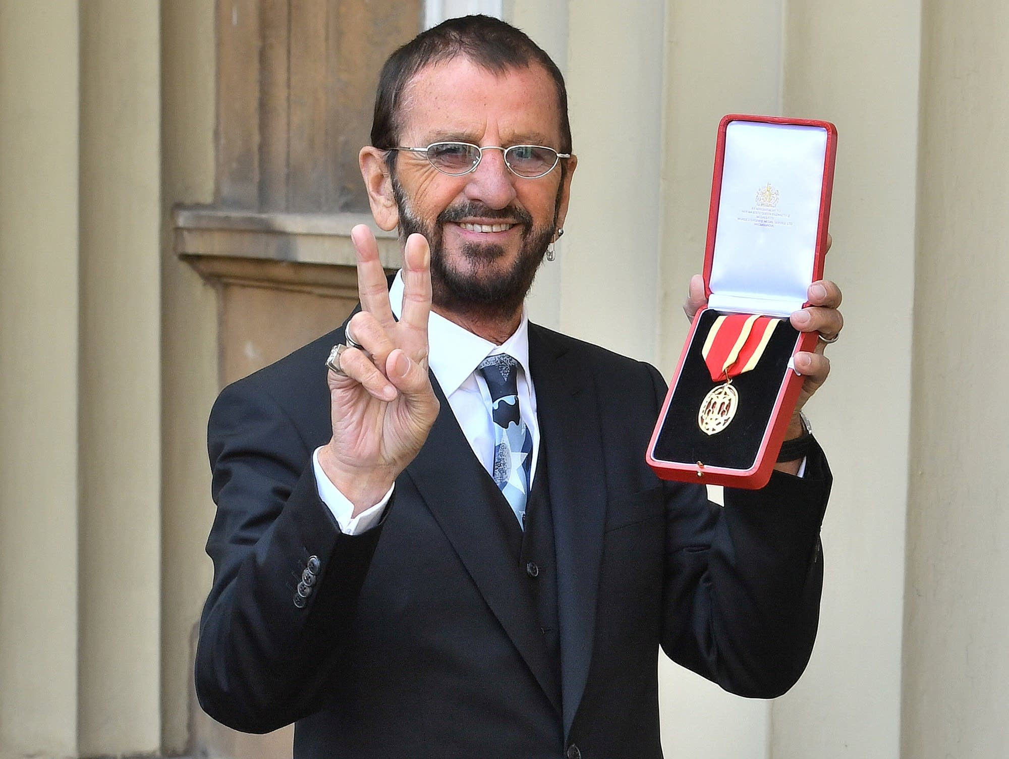 Ringo Starr After Being Appointed Knight Commander